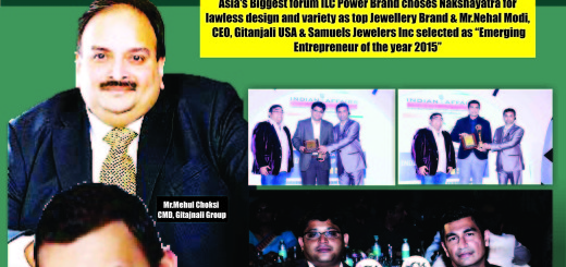 Asia's Biggest forum ILC Power Brand choses Nakshayatra for lawless design and variety as top Jewellery Brand & Mr